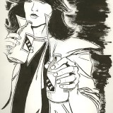 Original Art of Chrissie Hynde for a Fantagraphics Comix Interview Book
