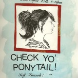 Original Illustration for a Check Yo' Ponytail Flyer.